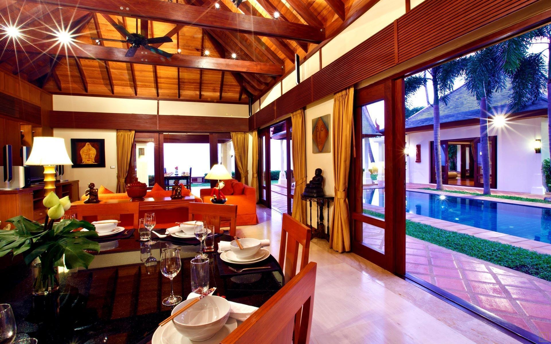 泰国苏梅岛密斯卡湾黄兰别墅客厅