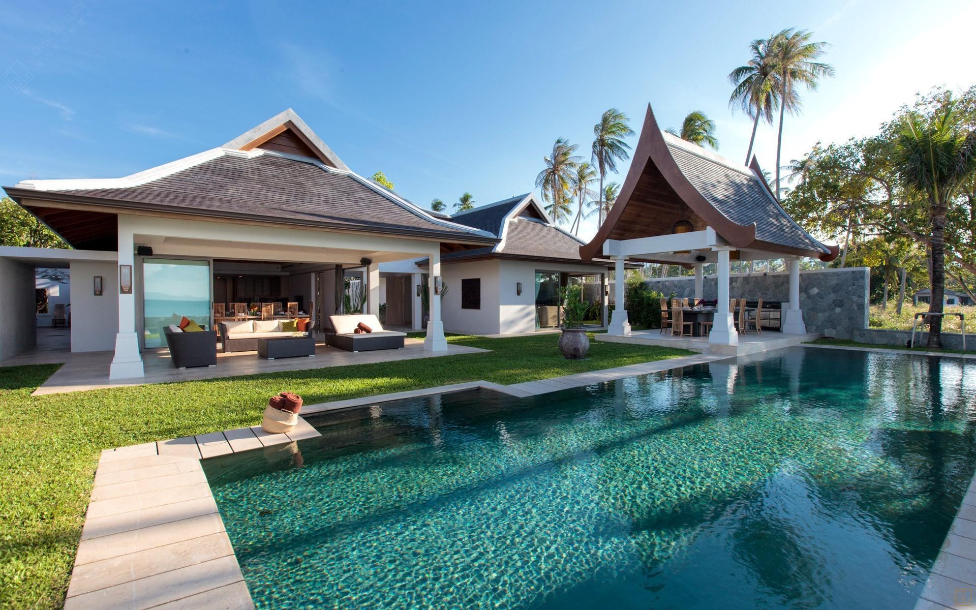 泰国苏梅岛密斯卡湾西拉别墅庭院