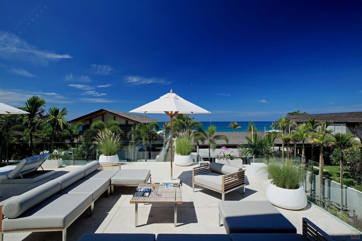 泰国普吉岛萨瓦庄园别墅露天休息区