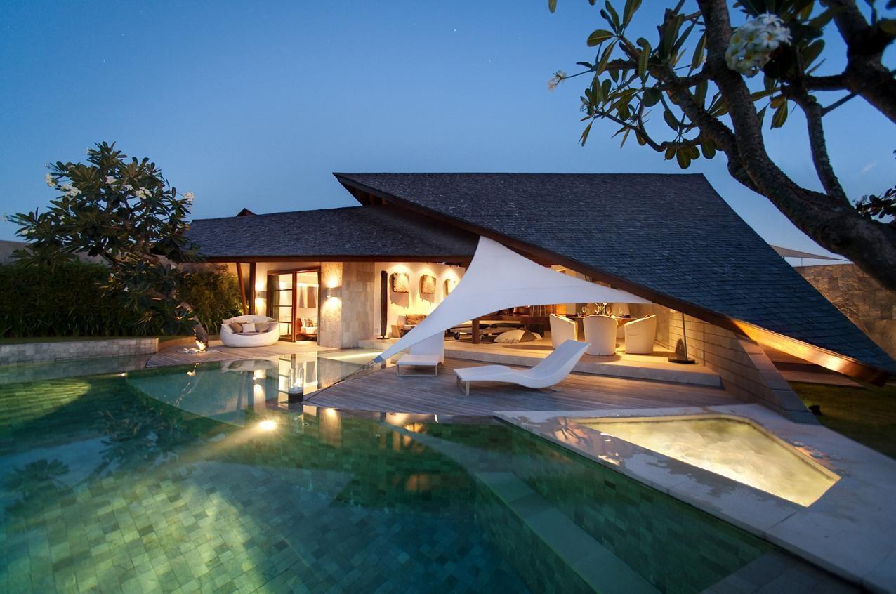 泳池别墅风景图片
