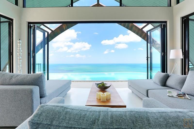 泰国苏梅岛月影别墅海景客厅