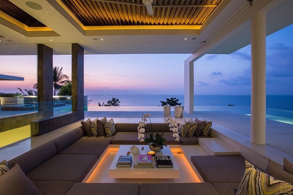 泰国苏梅岛青瓷别墅休息区