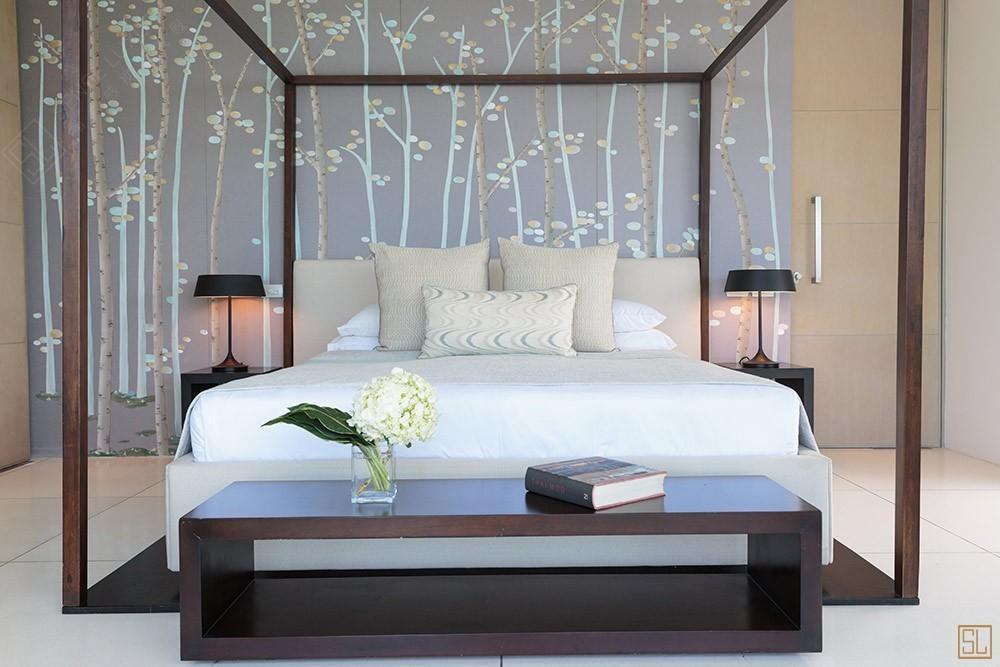 泰国苏梅岛青瓷别墅卧室
