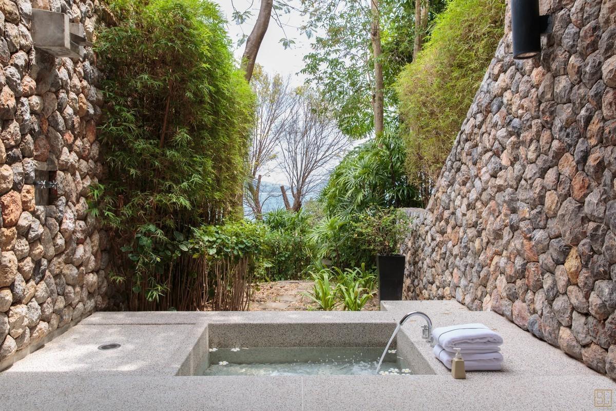 泰国普吉岛萨姆萨拉-利拉瓦蒂别墅浴缸